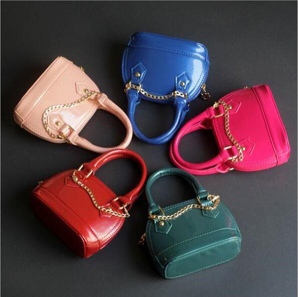 Fashion Kid handbag PU Leather Kids Handbags Stylish Baby Girl Purse Candy Color Toddler Bags Girls Mini Shell Bag DHL free Shipping CK136