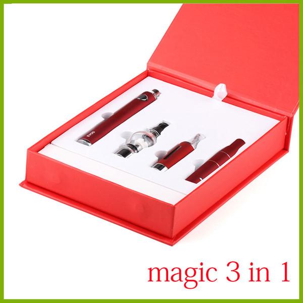 Sigaretta elettronica Magic 3 in 1 con vaporizzatore a cera Ago g5 MT3 Glass Globle EVOD penna vaporizzatore per erbe secche e starter kit