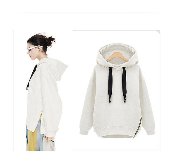 2016 neue Winter Herbst Lose Kapuzenjacke Plus Größe Warme Hoodies Sweatshirt Samt Langarm Sweatshirts Koreanischen Stil Hoodies