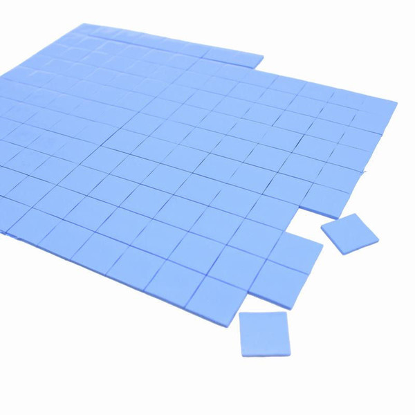 Wholesale- 2017 high quality 10mm*10mm*0.5mm 100 pcs Thermal GPU CPU Heatsink Cooling Conductive Silicone Pad