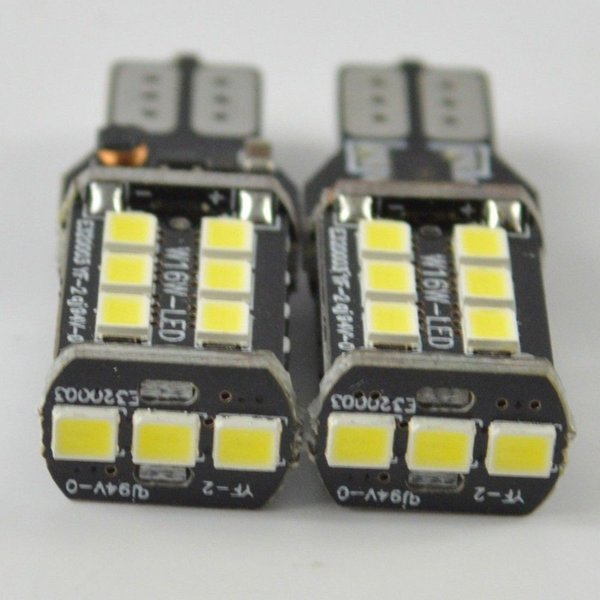 best selling 10X T15 15SMD Car LED Lights LED CANBUS Down Lights Backup Reversing Rear Lamp free shipping