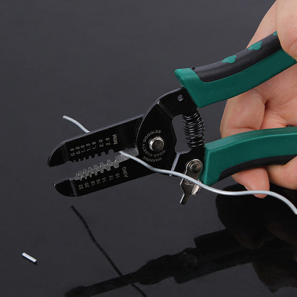 """Wire Stripper Multifunctional Automatic Cable Stripping Pliers Cutter Hand Tools For Cutting Electric Wire 6""""/7"""""""