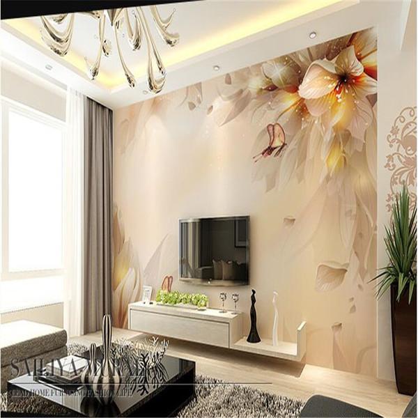Fototapete Hochwertige Seidentuch Tapete / Hintergrund des Wohnzimmers HD TV pastoralen großen Wandbild Wandpapier