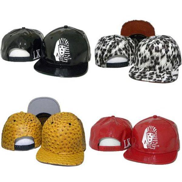 2016 Leather LK Caps Hat Last Kings Strapback Hats Leopard Snapbacks Adjustable Hat Hiphop Lastkings Snapback Baseball Cap Black Red Blue