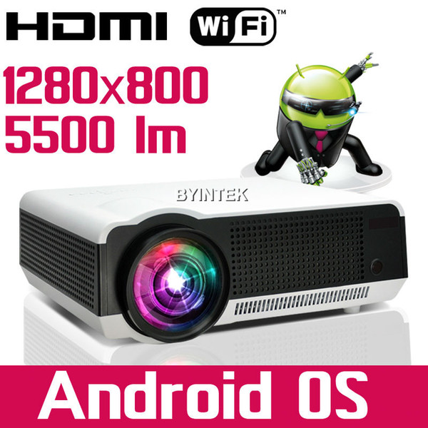Wholesale-5500lumens Android WIFI 1080P Smart Home Theater Video HDMI LCD LED Projector fUll hD beamer proyector projetor