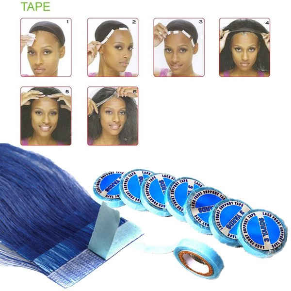 1pcs finest quality Lace wig glue tape for hair extension double sider glue tape Free shipping human hair with supertape