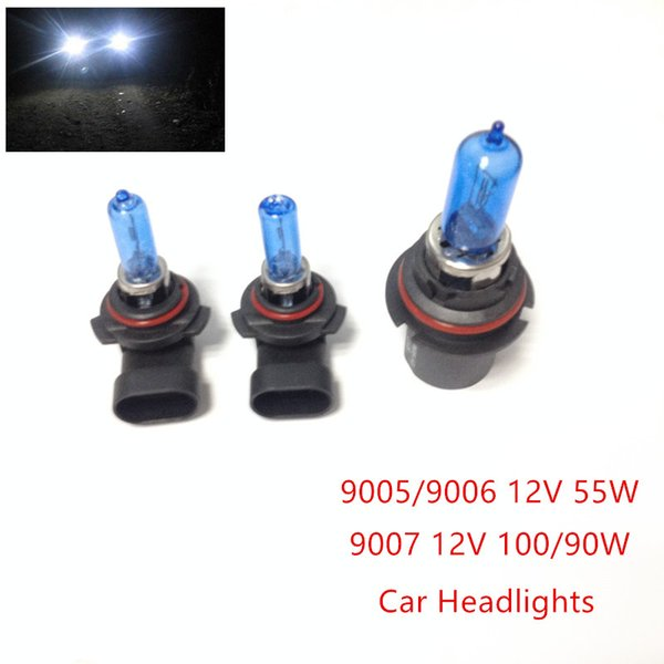New 2pcs 12V 100/90W 9007 55W 9005/9006 Ultra-white Xenon HID Halogen Auto Car Headlights Bulbs Lamp Auto Parts Car Light Source Accessories