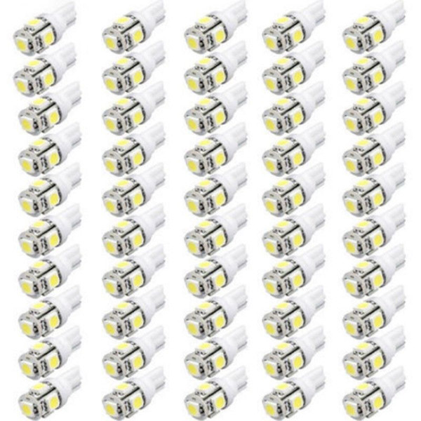 best selling 1000PCS LOT 12 Volt LED Lights T10 5050 W5W 5SMD 194 168 2825 158 White LED Bulb Free Shipping