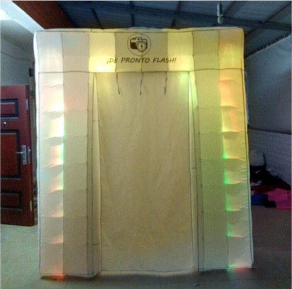 new design nice lighting inflatable photo booth for selling/fun with custom made logo take beautiful photo