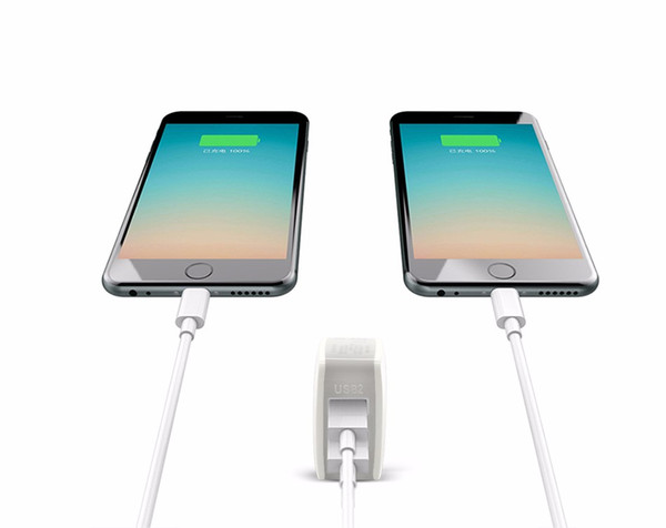 LuckGuard USB Charger For iphone 5 6 7 Dual Ports Travel Wall Charger Adapter 5V 2A EU Mobile Phone Charger For Samsung Tablet