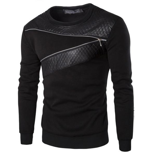 Fashion Big Size Brand Clothing Zipper Design Men's Hoodies Pullover Sweatshirt For Men wear tracksuits