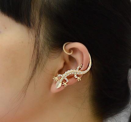 top popular Gecko Ear Cuff Stud Earring crystal earring Jewelry Free Shipping LM-C224 2019