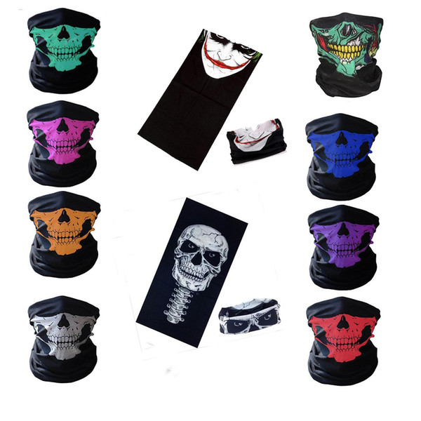 best selling Wholesale -2017 New Motorcycle bicycle outdoor sports Neck Face Mask Skull Mask Full Face Head Hood Protector Bandanas