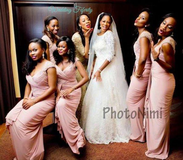 African Long Rose Gold Chiffon Bridesmaid Dresses 2017 Pleats V-neck Cap Sleeves Sheath Wedding Guest Dress Cheap Maid of Honor Gowns