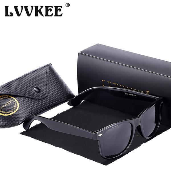 LVVKEE 2018 HOt Classic Women brand designer polarized sunglasses Men Rivet Coating Mirror Sun Glasses UV400 rays oculos de sol