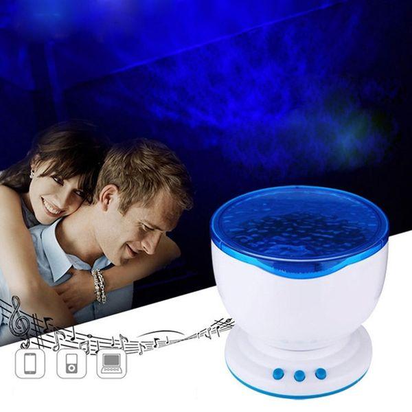 Indoor Colorful Led Night Lights Projector Ocean Daren Waves Aurora Master Projection USB Light Lamp With Speaker Novelty Lighting
