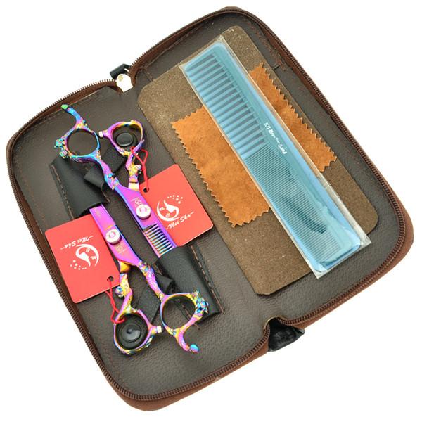 6.0Inch Meisha Hot Hair Cutting Shears & Thinning Scissors Hair Scissors Set JP440C Professional Hairdressing Scissors Kits ,HA0277