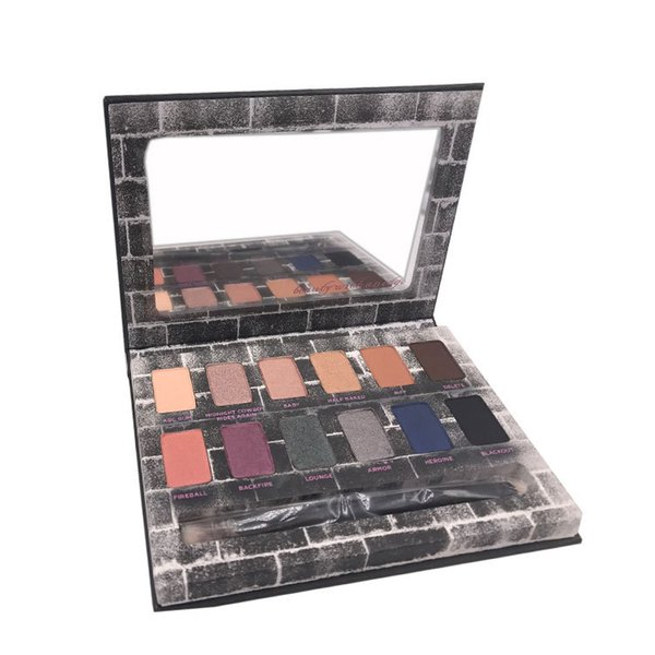 New Nocturnal Shadow Eyeshadow Palette 12 colors Eyeshadow Palette Makeup Palettes with Eye Shadow Brush Matte Shimmer Smoky 3001073
