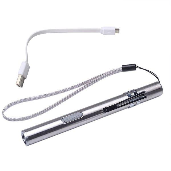 HOT 2018 Portable USB Wiederaufladbare LED Taschenlampen Wasserdichte Mini Taschenlampe Schlüsselbund Lampe Batterie