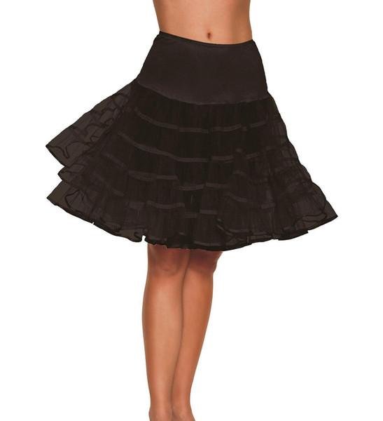 Sottoveste corta in tulle nero Crinoline Sottoveste da sposa vintage per abito da sposa Sottogonna Rockabilly Tutu Jupon Mariage CPA298