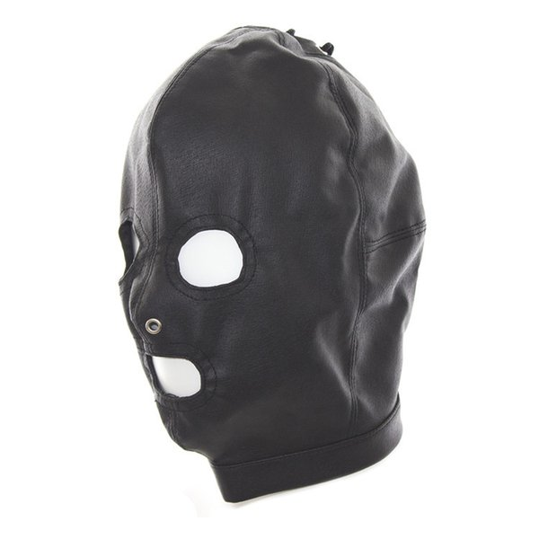 Hot Sale Fetish Dog Slave Soft PU Leather Mask Hood Bondage 3 Holes Breathe Head Restraint Adult Games Sex Products For Couples