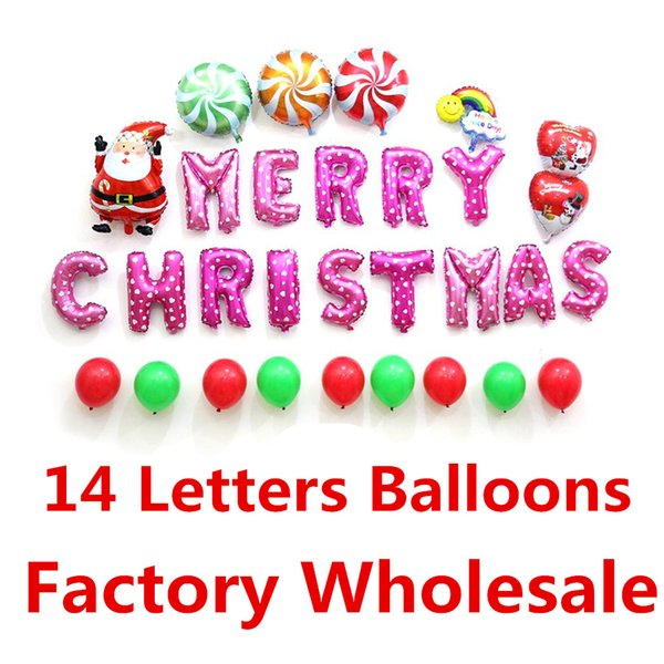Christmas Letters.16inch Merry Christmas Letters Balloons Xmas Party Decoration Inflatable Letters Christmas Balloons Event Party Factory Supplies Party Balloons Online