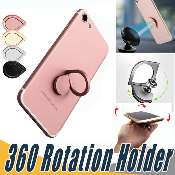 top popular Top Quality Water Drop Finger Ring Holder Universal Mobile Phone Ring Magnetic Stander With Retail Package For iPhone Xr Sumsung All Handset 2020