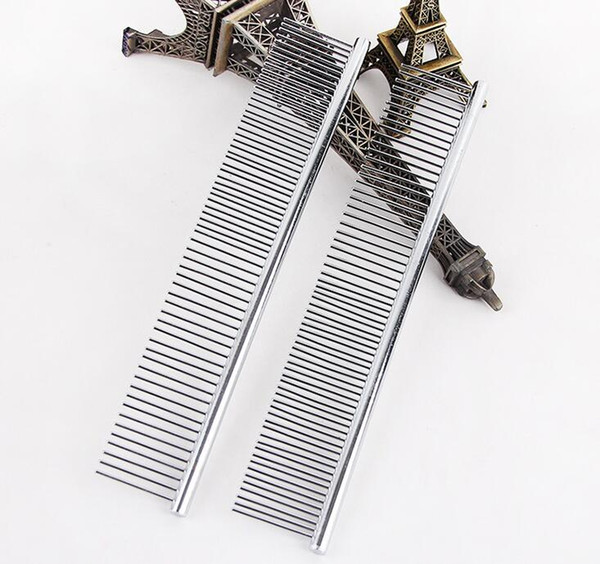 Pet Comb Asymmetric Hot Sell Steel Pet Hair Trimmer Comb Dog Cat Cleaning Brush 20PCS free shipping