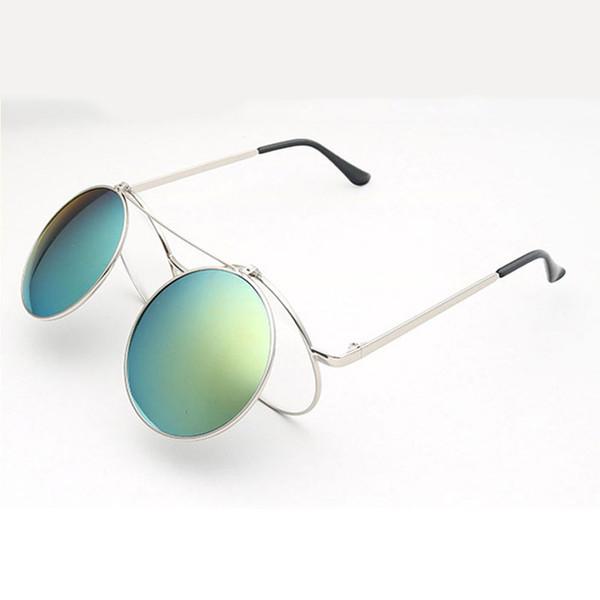 Moda steam punk Clamshell occhiali da sole retrò occhiali da sole uomo donna occhiali Personalità Clamshell Occhiali punk in metallo Occhiali da sole all'ingrosso