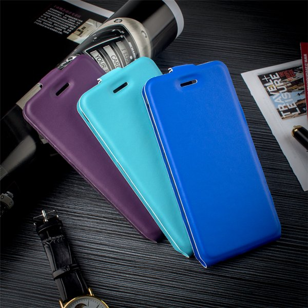 High Quality Magnetic Up and Down Vertical Flip Leather Mobile Phone Case for xiaomi redmi note 4