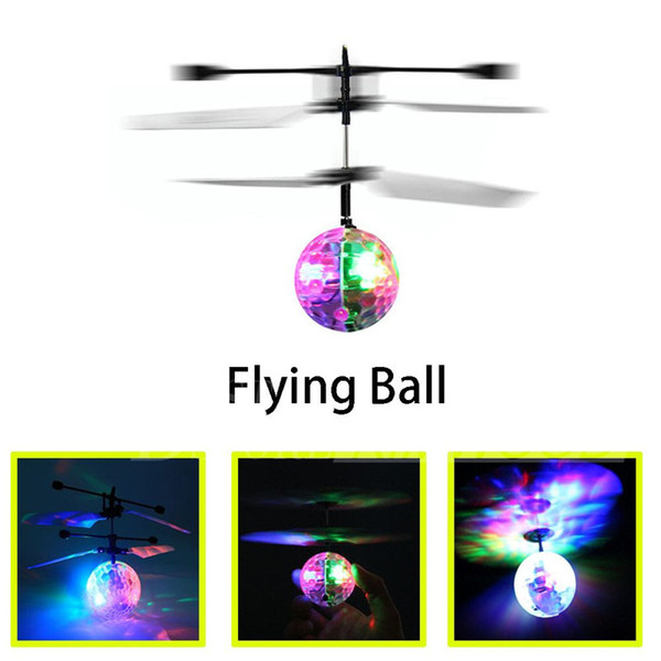 Hot Toy Epoch Air RC Flying Ball Drone Helicopter Ball Built-in Shinning LED Lighting for Kids Teenagers Colorful Flyings