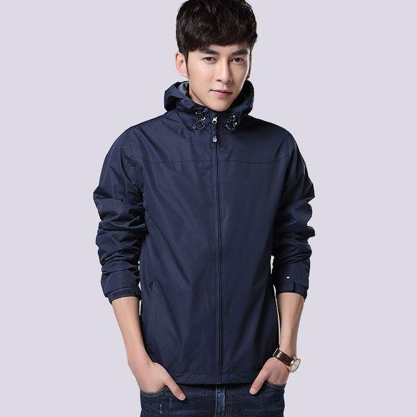 Jacket Coat Spring Thin Windrunner Windbreaker Mens Hoodie Sportswear Soccer Team Printe Hooded Zipper Jacket Clothing 565