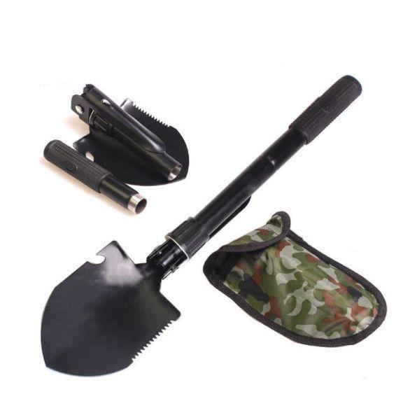 Multi-function Military Portable Folding Shovel Survival Spade Trowel Dibble Pick Emergency Garden Outdoor Tools Free Shipping