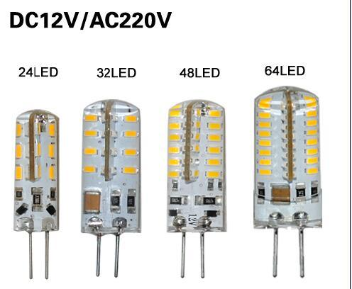 G4 LED Lamp 1W 3W 4W 5W 6W 9W AC DC 12V 220V 110V SMD Light Bulb Chandelier Crystal Silicone Candle Energy Saving