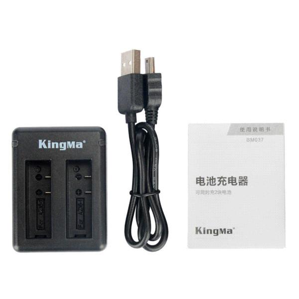 KingMa for Xiaomi YI 2 II 4K 1400mAh Rechargeable Battery (2-Pack) and Dual USB Charger for Xiaomi YI 4K Action Camera II 2
