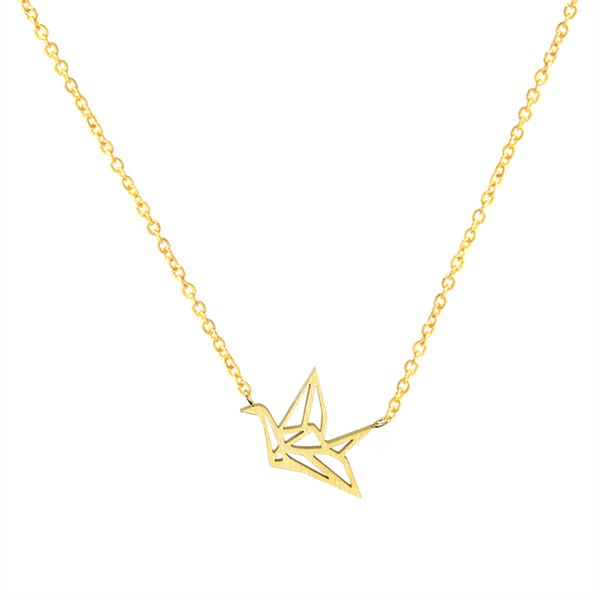 Wholesale wholesale 2017 new fashion stainless steel jewelry pendant wholesale 10pcslot 2017 new fashion stainless steel jewelry pendant origami crane gold chains silver aloadofball Images