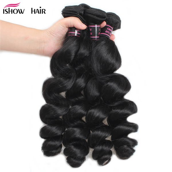 Free Shipping Loose Wave Brazilian Hair Bundles 4Pcs/lot Unprocessed Human Hair Weaves Cheap Peruvian Virgin Hair Wefts Wholesale Price