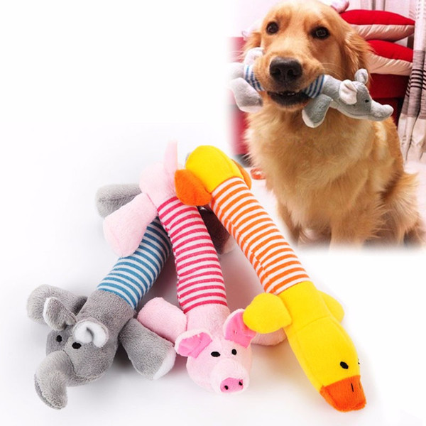 top popular Dog Toys Fashion lovely Stripe Pigs ducks elephants interesting Plush toys dog's favorite Sound Toys 2021