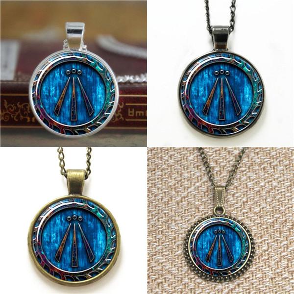 10pcs Awen Symbole Druid Pendentif A1 Collier porte-clés signet bouton de manchette boucle d'oreille bracelet
