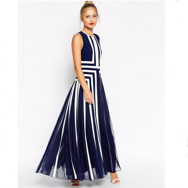 plus size dress xxxxl women mesh striped maxi dress chiffon long Patchwork tank dress summer
