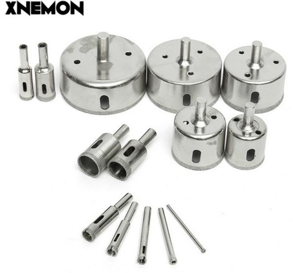 XNEMON 14pcs Diamond Hole Saw Coated Core Drill Bit Set Tile Marble Glass 3-70mm Cutter 3 5 6 8 10 12 16 18 20 30 40 50 60 70mm