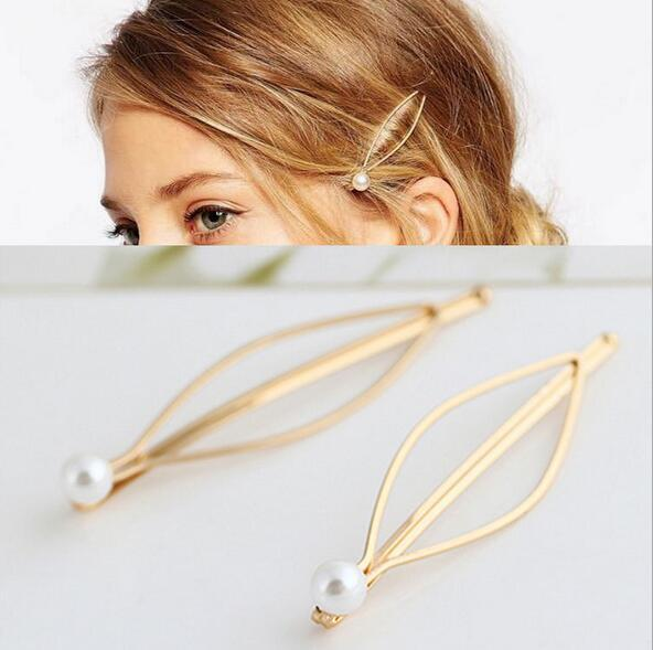 Simple atmospheric European and American wind act the role ofing is tasted Joker pearl gold hairpin clip wholesale free shipping