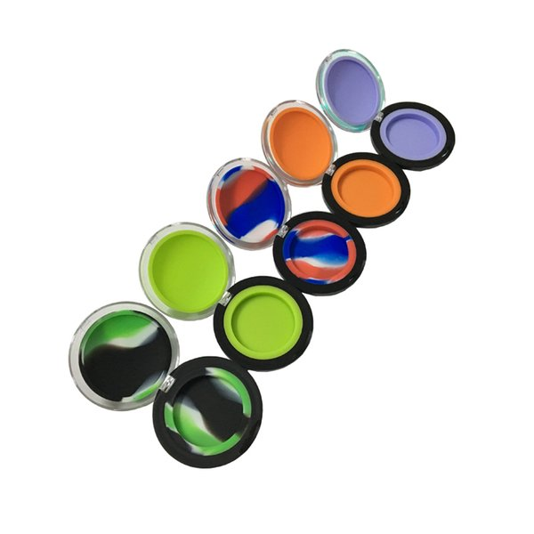 Silicone Non Stick Wax Container Concentrate Shatter Proof 6ml Oil Jars Cover 20pcs/lot Mixed Color