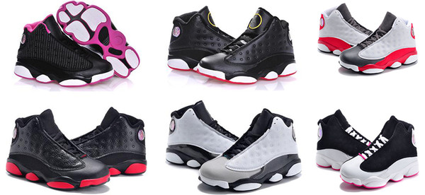 Cute new 13 Kids Basketball Shoes Children J13s High Quality Sports Shoes Youth Basketball Sneakers For Sale Size: US11C-3Y EU28-35