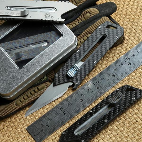 MG Cortador De Papel Original faca De Corte De Titânio G10 Lidar Com Olfa lâmina de aço inoxidável Poda bolso faca de acampamento ao ar livre facas EDC ferramenta