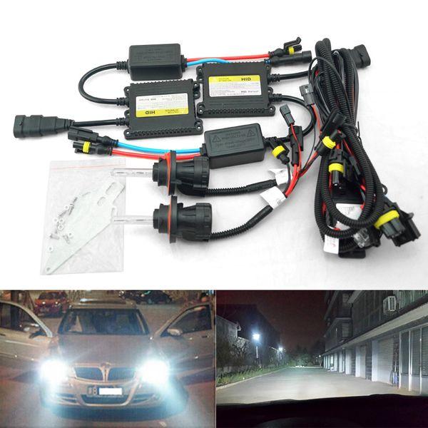 LEEWA 35W AC Car Headlight H13 HID Xenon Bulb Hi/Lo Beam Bi-Xenon Bulb Light Digital Slim Ballast HID Kit #4534