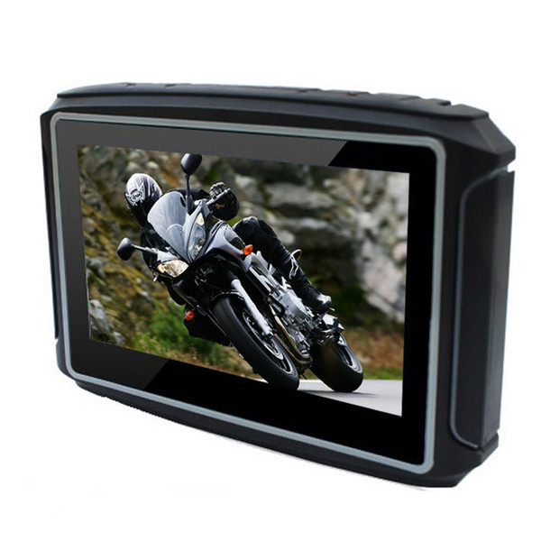 4.3 Inch Motorcycle GPS Navigation System Bluetooth IPX7 Waterproof Anti-earthquake Motor Navi With SDRAM 256MB 8GB Maps