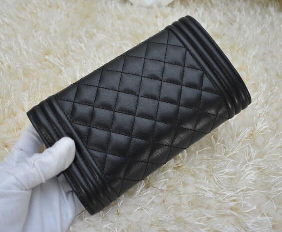 88733 le boy Classic Card ID Holder women wallet genuine leather famous brand caviar/lambskin short wallets