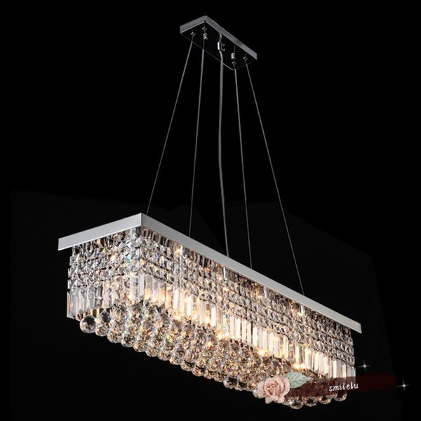 led ceiling lighting room crystal hanging lamp room bedroom rectangular european style warm atmosphere modern minimalist