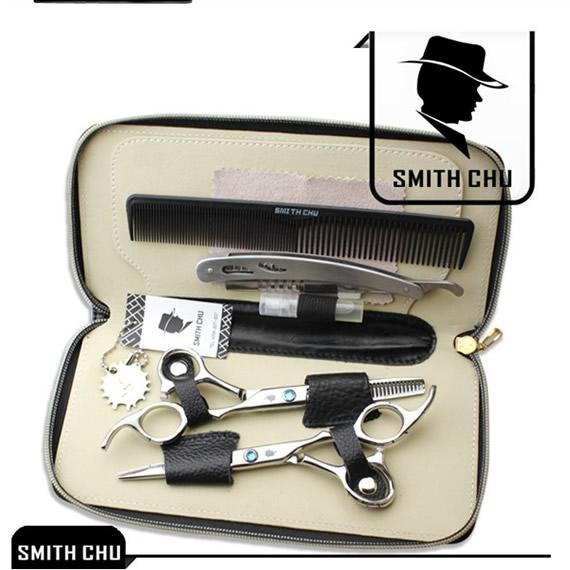 6.0Inch Smith Chu Best Scissors Professional Salon Hair Cutting & Thinning Scissors Barber Shears Razor Hairdressing Set with Case, LZS0006